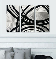 Silver & Black Modern Decor - Abstract Metal Panel Wall Art - Fast & Furious 3