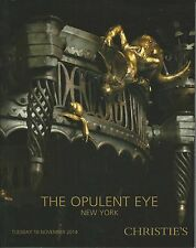 SOTHEBY'S OPULENT EYE Furniture Cameo Glass Webb Majolica Ceramics Catalog 2014