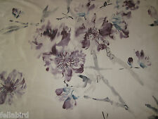 "DESIGNERS GUILD CURTAIN FABRIC  ""Oriental flower"" 3.7 METRES THISTLE 100% SILK"