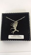 A57 Moose Antler english pewter 3D Platinum Necklace Handmade 18 INCH