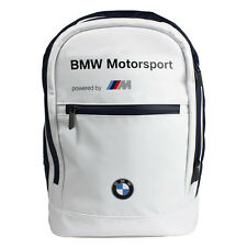 NEW! BMW MOTORSPORT RUCKSACK BACKPACK BAG WHITE/NAVY M SPORT COLOURS