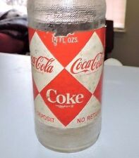"RARE ORIGINAL 1966 COCA COLA DIAMOND PAPER LABEL NDNR 10 oz BOTTLE  "" NICE """