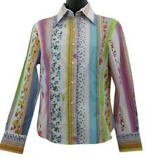 Etro Milano Floral and Stripes Print Cotton Button Down Shirt 42
