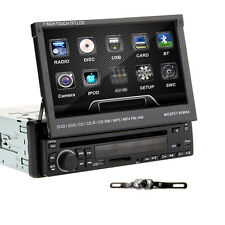 "7"" Single 1 Din Touch Screen In Car Deck Radio DVD Player Stereo SD USB iPod"