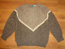 CACHAREL TAUPE MELANGE 100% WOOL KNITTED RELAXED JUMPER-S,10-UK
