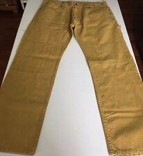 THE HUNDREDS 100% Cotton Slim Tan/Beige/Yellow Pants Men's Size 36