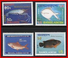 BANGLADESH 1983 FISH / MARINE LIFE SC#225-28 MNH CV$16.00   (E15)