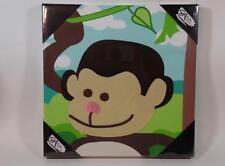 New Studio Arts Kids Embellished Canvas Fleece Jungle MONKEY Wall Hanging