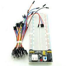 MB-102 830 Point Solderless PCB Breadboard+Power Supply+65pcs Jump Cable Wires d