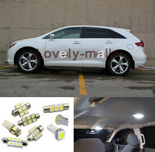 Ultra White 13Pcs LED Lights Interior Package for Toyota Venza 2009-2013