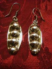 Vintage Mexico Sterling Silver SWEET PEAS earrings