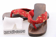 K-G-11 rot Geta Japan Wood Sandal Socks for Kimono Yukata (9 5/8in/Size 38)