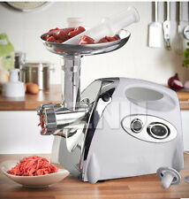 AU - 2800w Electric Stainless Steel Meat Grinder Mincer Sausage Kubbe Maker