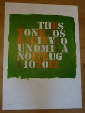 THE STONE ROSES Milan lithograph 17-7-2012 - very rare, numbered 18/50