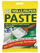6 PINT PACK WALLPAPER PASTE HANG UP TO 5 ROLLS SUPER STRONG STICKY FOIL PACKED
