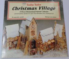 1984 Tasha Tudor Christmas Village 3D Advent Calendar Charming Easy Reusable EUC