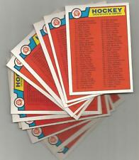 1983 84 OPC #134 CHECKLIST 1-132 UNMARKED O-PEE-CHEE