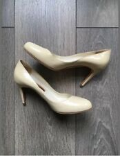 RUPERT SANDERSON NUDE PATENT HIGH HEELS 36.5/UK:4.5 RRP£425 BEIGE PATSY LEATHER