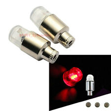 2Pcs Red Motorcycle Wheel Tyre Air Valve Stem Cap LED Light For Harley-Davidson