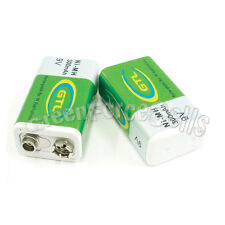 2 pcs 9V 9.0 Volt 300mAh Ni-MH Rechargeable Battery GTL