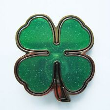 NEW CELTIC IRISH CLOVER PATRICK SHAMROCKS BELT BUCKLE