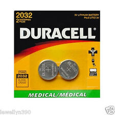 2pack Duracell CR2032 3v Battery Medical 2032 DL2032