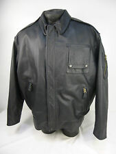"LEATHER CRAFT  Aviation Aircrew Pilot Helicopter Flying Flight Jacket  48"" AV2"