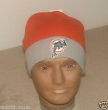 Miami Dolphins NFL Football Uncuffed Beanie Style Winter Knit Hat  New