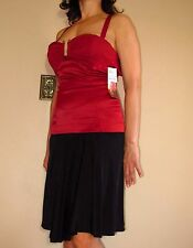 $335 Just Cavalli Italy Dark Red Form-Fitting Bustier Top Italy 46 / USA 10 NWT