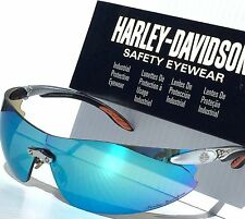 NEW* Harley-Davidson HD801 Mirrored Blue ICE Lens Frame Sunglass & Safety $100