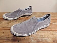 Clarks Men's Gray Suede Slip On Casual Walking Shoes Size 10.5