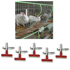10 Pcs Nipple Waterer Drinkers Water Rabbit Guinea Pig Ferret Rat Mouse Feeder