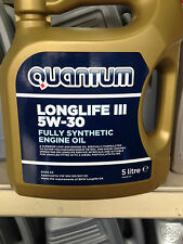 QUANTUM LONGLIFE 3 5W-30 FULLY SYNTHETIC ENGINE OIL 5 LTR W 504 00/507 00 SPEC