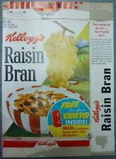 1964 Kellogg's Raisin Bran Free Kiddy Pop Cereal Box