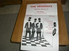 THE RESIDENTS TOUR  ORIGINAL RARE  POSTER THE PALMS