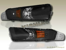 2005-2007 FORD MUSTANG FRONT SIGNAL BUMPER LIGHTS LEFT RIGHT BLACK