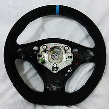 BMW E70 X5 M E71 X6 M Performance Alcantara Sport Steering Wheel Blue Stripe NEW