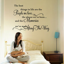Quote Words The Best Things In Life Art Decor Removable Vinyl Decal Wall Sticker