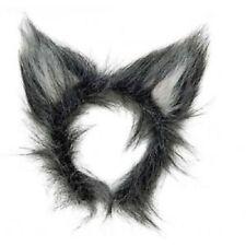 MENS WOMENS ANIMAL WOLF EARS HEADPIECE HEADBAND  FANCY DRESS