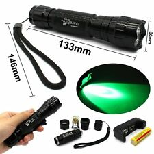 Cree XM-L T6 800LM LED Tactical Flashlight Torch+18650+Charger 501B Green Light
