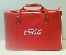 Vintage Coca Cola 1960's Insulated Vinyl Bag Cooler Made in Italy
