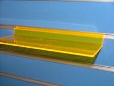 CLEARANCE 10 X LIGHT ORANGE  ACRYLIC  SLATWALL SHELF 250 x105mm