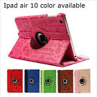Leather 360 Swivel ROTATING Smart Case Cover Stand FOR Apple iPad air iPad 5