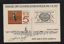 1967 Wilkinsburg Souvenir Sheet, MNH, Full Original Gum, Satirical Philately!!