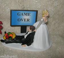 HUMOROUS WEDDING GAME OVER VIDEO GEEK GROOM CAKE TOPPER