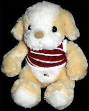 Ming Ren Plush Tan Puppy Dog Red White Shirt Teddy MingRenToy Bastad