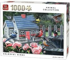 1000 Piece Animal Collection Jigsaw Puzzle - COLOURFUL BIRDS 05390