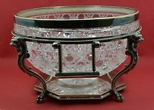 Victorian silver plate cut glass Rococo Bonboniere / punch bowl Silber & Fleming