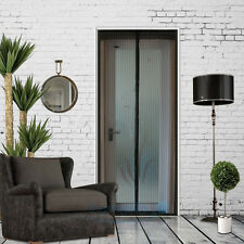 Hands Free Screen Net Door with Magnet Anti Mosquito Fly Bug Curtain Black