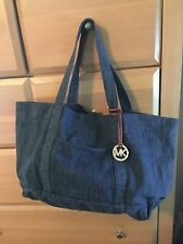 BNWT Michael Kors Blue Denim Hand Bag Purse Tote Handbag Indigo